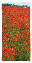 Nottinghamshire Poppies Beach Towel
