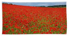 Nottinghamshire Poppy Field Beach Towel