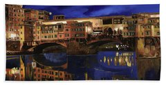 Beach Towel featuring the painting Notturno Fiorentino by Guido Borelli