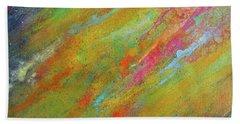 Nova Brillante. Abstract Acrylic Painting. Beach Towel