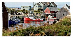 Nova Scotia Fishing Community Beach Towel by Jerry Battle