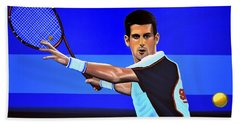Novak Djokovic Beach Sheet by Paul Meijering