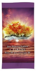 November Birthstone Citrine Beach Towel