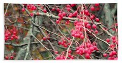 November Crabapples Beach Towel