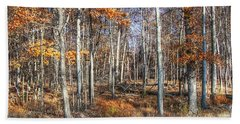 Beach Towel featuring the photograph November Forest by Betsy Zimmerli