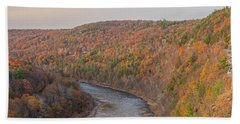November Golden Hour At Hawk's Nest Beach Towel