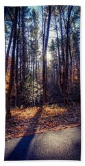 Beach Towel featuring the photograph November Light by Kendall McKernon