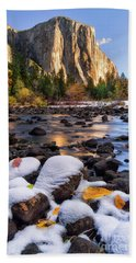 November Morning Beach Towel