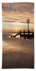 November Sunrise - Portrait Beach Sheet