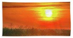 November Sunset Beach Towel