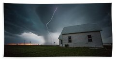 Beach Towel featuring the photograph Nowhere To Run by Aaron J Groen