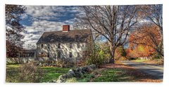 Noyes House In Autumn Beach Sheet