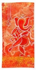 Nritya Ganesha- Dancing God Beach Towel
