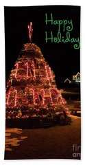 Nubble Light - Happy Holidays Beach Towel