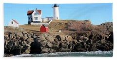Nubble Light House  Beach Towel