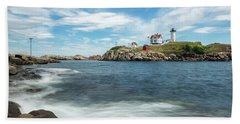 Nubble Light II Beach Sheet