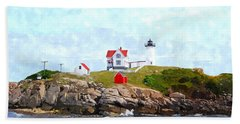 Nubble Light Nlwc Beach Sheet by Jim Brage
