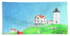 Nubble Beach Towel by Troy Levesque