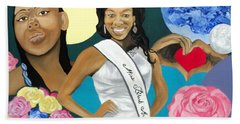 Nubian Princess Beach Towel by Angelo Thomas