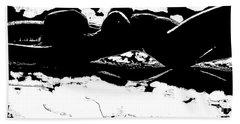 Nude Art Bw 04 Beach Sheet