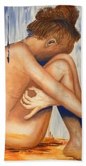 Nude In The Rain Beach Towel