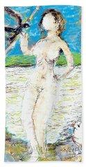 Nude With Bird Beach Sheet