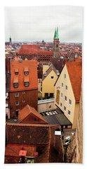 Nuremberg Cityscape Beach Sheet
