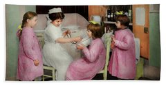 Beach Sheet featuring the photograph Nurse - Playing Nurse 1918 by Mike Savad