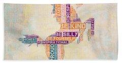 Nursery Rhymes Unicorn Beach Towel by Brandi Fitzgerald