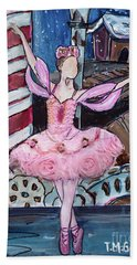 Beach Towel featuring the painting Nutcracker Sugar Plum Fairy by TM Gand