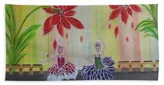 Nutcrackers Waltz Of The Flowers Beach Towel by Sharyn Winters