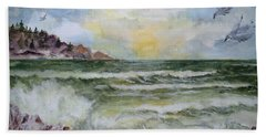 Nw Coast At Sunset Beach Towel
