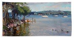 Nyack Park By Hudson River Beach Towel