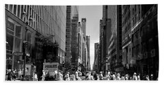 Nyc 42nd Street Crosswalk Beach Towel by Matt Harang