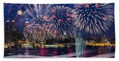 Nyc Fourth Of July Celebration Beach Towel