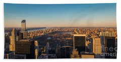 Nyc From Above Beach Towel