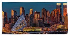 Beach Towel featuring the photograph Nyc Golden Empire by Susan Candelario