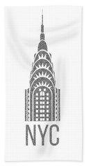 Nyc New York City Graphic Beach Towel by Edward Fielding