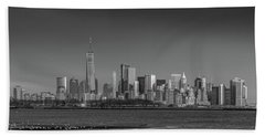 Nyc Skyline Beach Towel