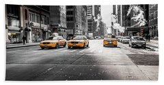 Nyc Taxi Beach Towel