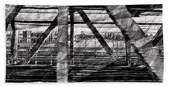 Nyc Train Bridge Tracts Beach Towel