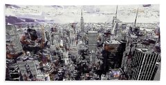 Nyc View From Rockefeller Center Beach Towel