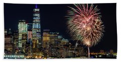 Beach Towel featuring the photograph Nyc World Trade Center Pride by Susan Candelario