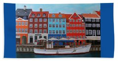 Nyhavn Copenhagen Beach Sheet