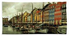 Nyhavn In Copenhagen Beach Towel