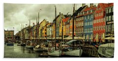 Nyhavn In Copenhagen Beach Sheet