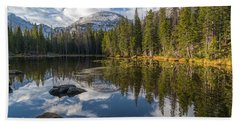 Beach Sheet featuring the photograph Nymph Lake by Dustin LeFevre