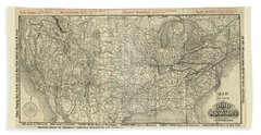 O And M Map Beach Towel