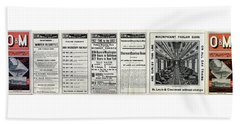 O And M Timetable Beach Towel