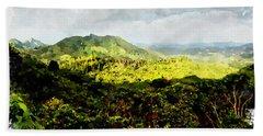 Oahu Landscape Beach Towel by Kai Saarto